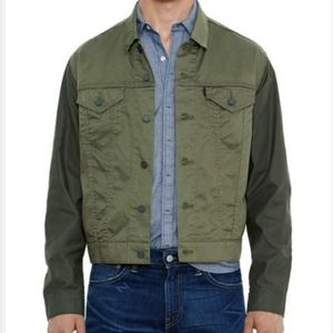 LEVI'S Line 8 Two Tone Green Box Truckers Jacket